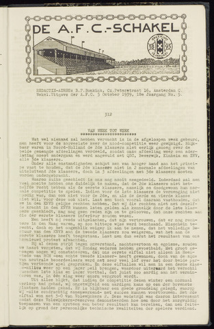 Schakels (clubbladen) 1939-10-05