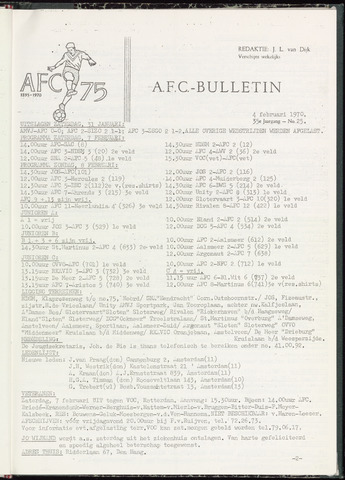 Bulletins (vnl. opstellingen) 1970-02-04