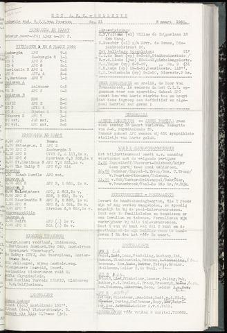 Bulletins (vnl. opstellingen) 1960-03-08
