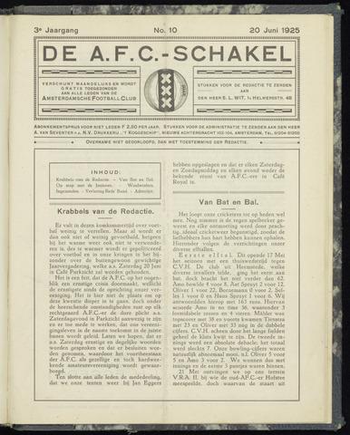 Schakels (clubbladen) 1925-06-20