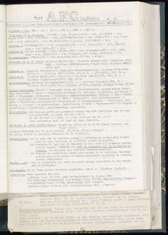 Bulletins (vnl. opstellingen) 1964-04-23
