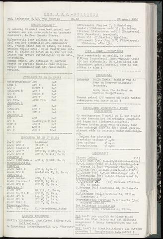 Bulletins (vnl. opstellingen) 1960-03-22