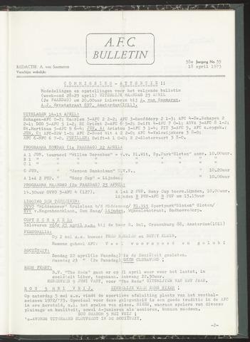 Bulletins (vnl. opstellingen) 1973-04-18