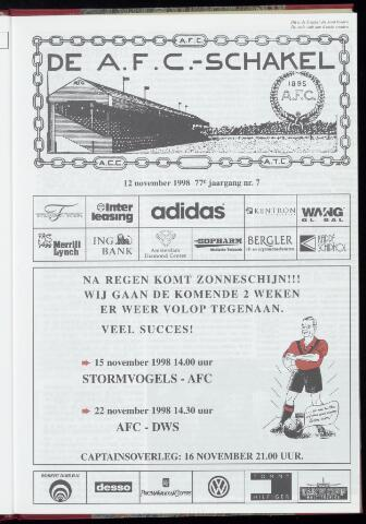 Schakels (clubbladen) 1998-11-12