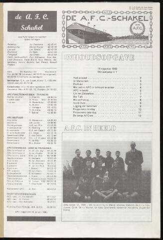 Schakels (clubbladen) 1985-08-14