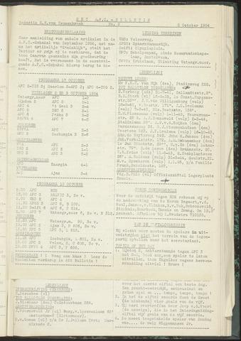 Bulletins (vnl. opstellingen) 1954-10-05