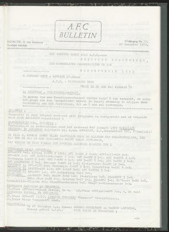 Bulletins (vnl. opstellingen) 1972-12-20