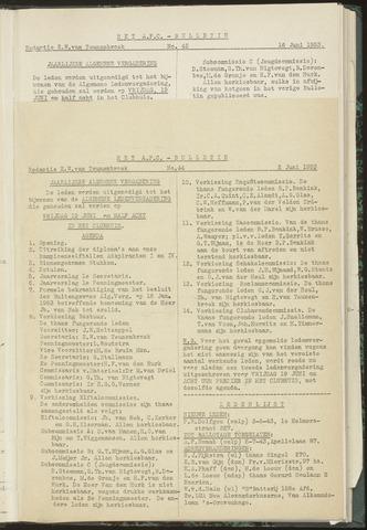 Bulletins (vnl. opstellingen) 1953-06-02