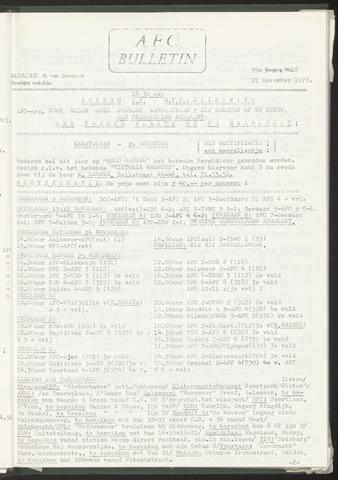 Bulletins (vnl. opstellingen) 1973-11-21