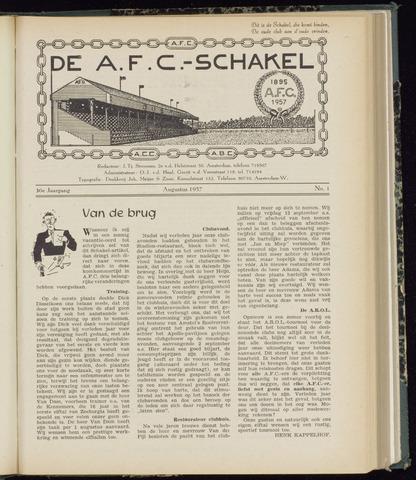 Schakels (clubbladen) 1957-08-01