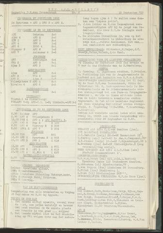Bulletins (vnl. opstellingen) 1953-09-15