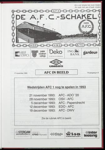 Schakels (clubbladen) 1993-11-17