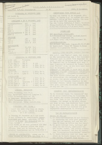 Bulletins (vnl. opstellingen) 1953-12-08