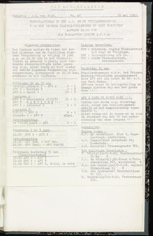 Bulletins (vnl. opstellingen) 1962-05-29