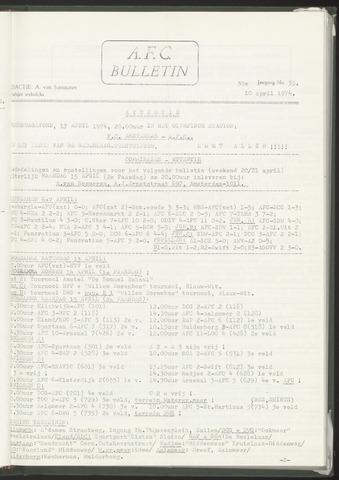 Bulletins (vnl. opstellingen) 1974-04-10