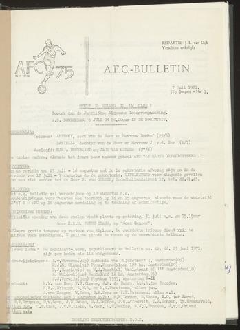 Bulletins (vnl. opstellingen) 1971-07-07