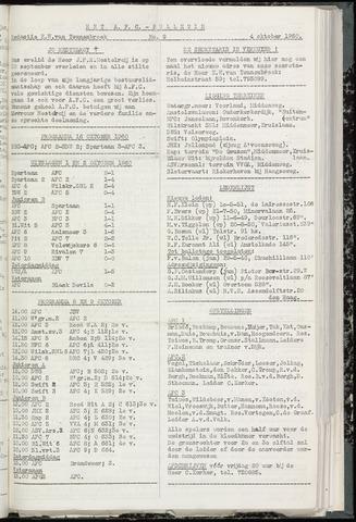 Bulletins (vnl. opstellingen) 1960-10-04
