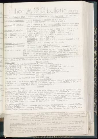 Bulletins (vnl. opstellingen) 1964-10-21