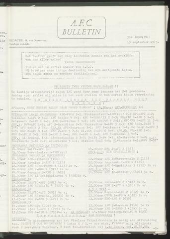 Bulletins (vnl. opstellingen) 1973-09-19