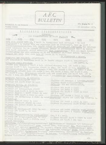 Bulletins (vnl. opstellingen) 1972-11-22