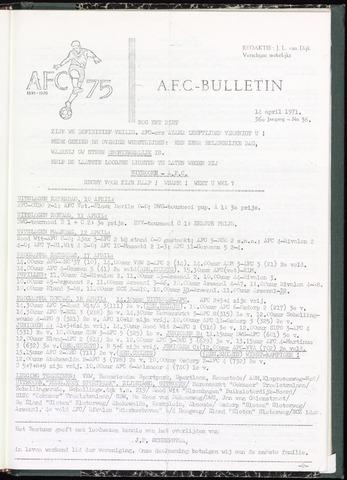 Bulletins (vnl. opstellingen) 1971-04-14