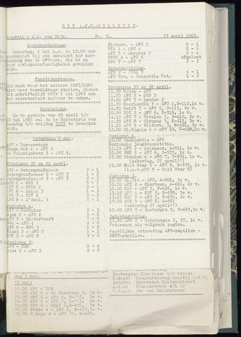 Bulletins (vnl. opstellingen) 1963-04-17