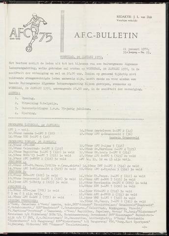 Bulletins (vnl. opstellingen) 1970-01-21
