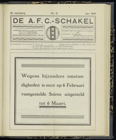 Schakels (clubbladen) 1931