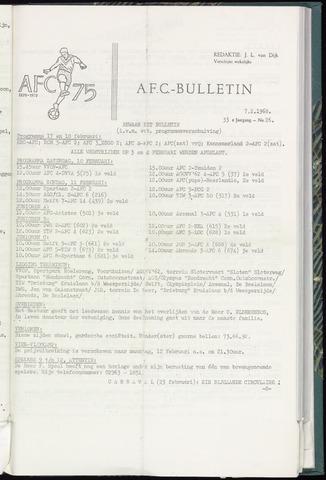 Bulletins (vnl. opstellingen) 1968-02-07