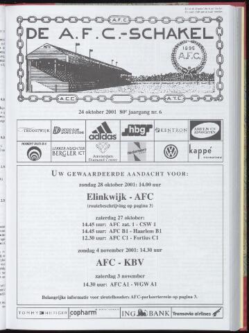 Schakels (clubbladen) 2001-10-24