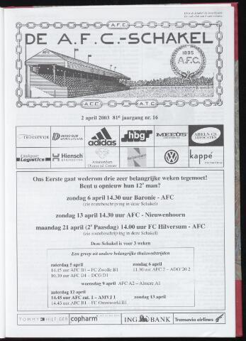 Schakels (clubbladen) 2003-04-02