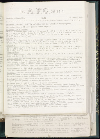 Bulletins (vnl. opstellingen) 1964-01-22