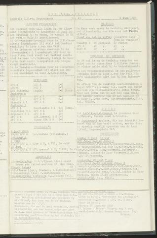 Bulletins (vnl. opstellingen) 1958-06-03