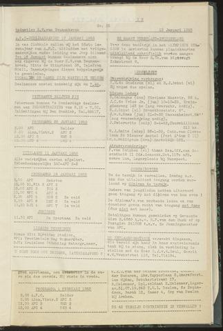 Bulletins (vnl. opstellingen) 1953-01-13