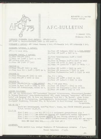 Bulletins (vnl. opstellingen) 1972