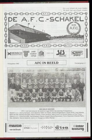 Schakels (clubbladen) 1992-08-19