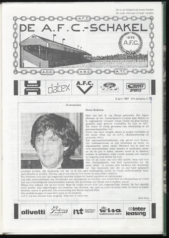 Schakels (clubbladen) 1987-04-08