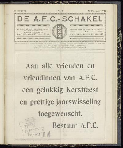 Schakels (clubbladen) 1927-12-24