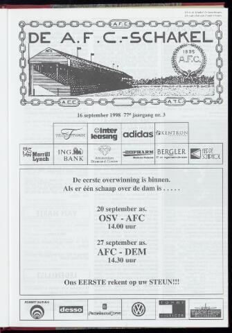 Schakels (clubbladen) 1998-09-16