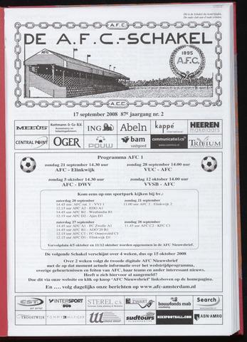 Schakels (clubbladen) 2008-09-17