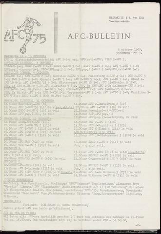 Bulletins (vnl. opstellingen) 1969-10-08