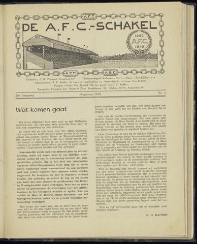 Schakels (clubbladen) 1949-08-01