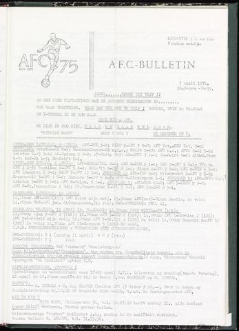 Bulletins (vnl. opstellingen) 1971-04-07