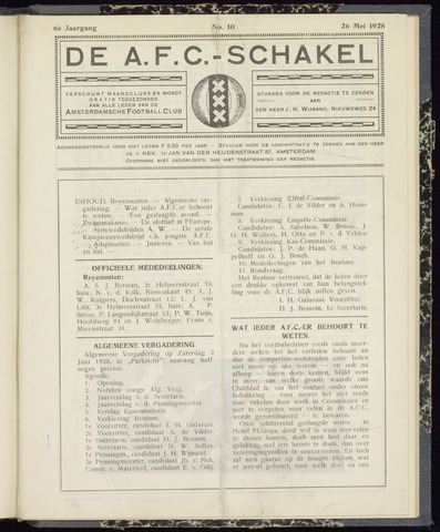 Schakels (clubbladen) 1928-05-26