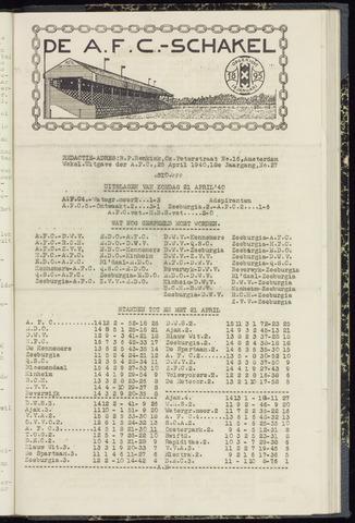 Schakels (clubbladen) 1940-04-25