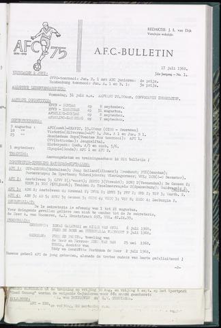 Bulletins (vnl. opstellingen) 1968-07-17
