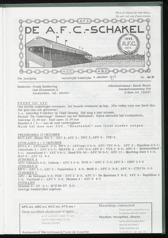 Schakels (clubbladen) 1976-10-06