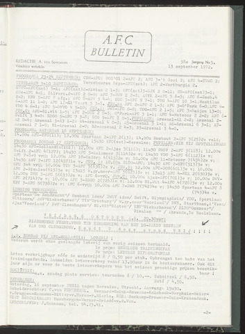 Bulletins (vnl. opstellingen) 1972-09-13