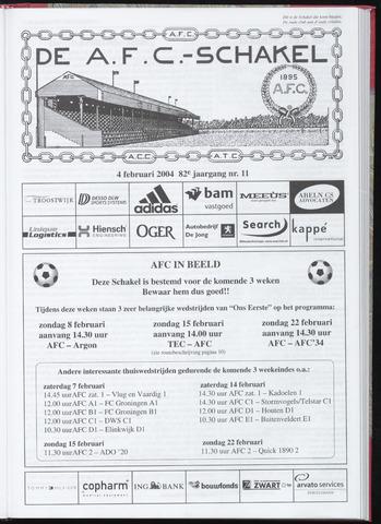 Schakels (clubbladen) 2004-02-04
