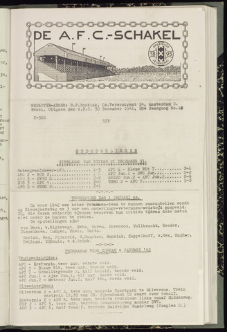 Schakels (clubbladen) 1941-12-30